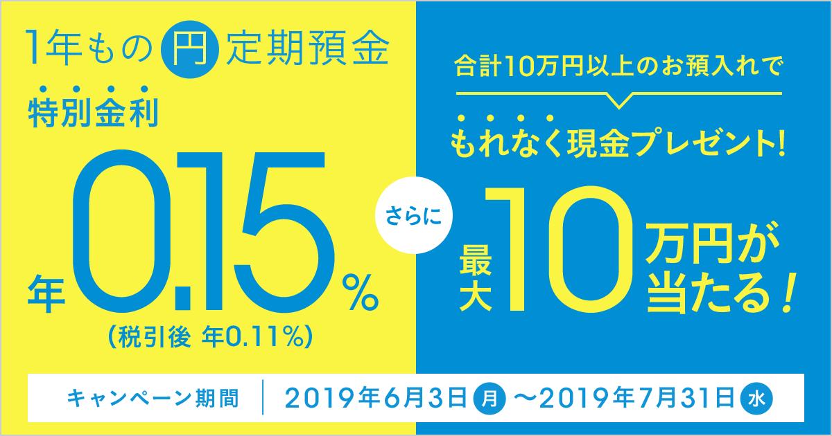 キャンペーン 金利 定期 2019 預金